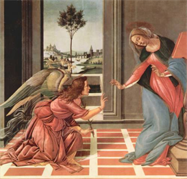 Image Photo Annunciation Botticelli | Photos and Images | Vintage