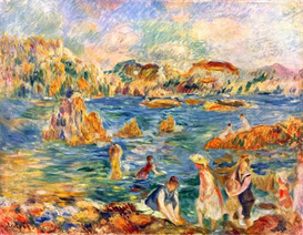 Image Photo At the beach of Guernesey Sisley Impressionism | Photos and Images | Vintage