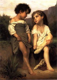Image Photo At the Edge of the Brook Bouguereau | Photos and Images | Vintage