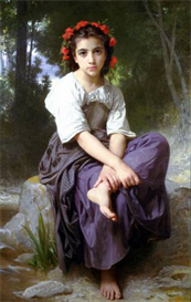 Image Photo At the Edge of the Brook2 Bouguereau | Photos and Images | Vintage