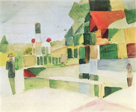 Image Photo At the ships August Macke Expressionism | Photos and Images | Vintage