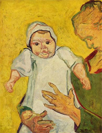 Image Photo Augustine Roulin with her infant  Van Gogh | Photos and Images | Vintage