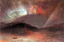 Image Photo Aurora Borealis Frederick Edwin Church | Photos and Images | Vintage