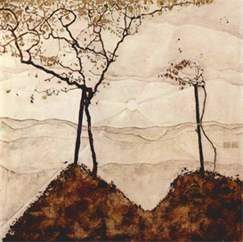 Image Photo Autumn sun and trees Schiele | Photos and Images | Vintage