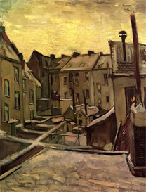 Image Photo Backyards of Old Houses in Antwerp in the Snow Van Gogh | Photos and Images | Vintage