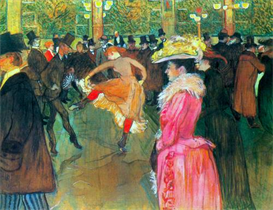 Image Photo Ball in the Moulin Rouge Toulouse-Lautrec | Photos and Images | Vintage