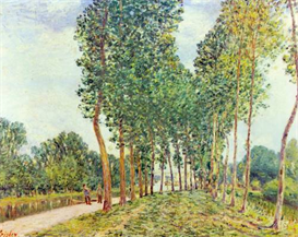 Image Photo Banks of the Loing in Moret Sisley Impressionism | Photos and Images | Vintage