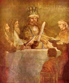 Image Photo Batavian conspiracy, detail Rembrandt | Photos and Images | Vintage