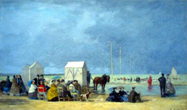 Image Photo Bathing Time at Deauville Boudin | Photos and Images | Vintage