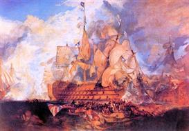 Image Photo Battle of Trafalgar 2 Joseph Mallord Turner | Photos and Images | Vintage