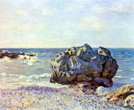 Image Photo Bay of long-country with rock Sisley Impressionism | Photos and Images | Vintage
