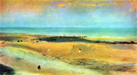 Image Photo Beach at low tide #1 Degas | Photos and Images | Vintage
