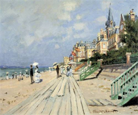 Image Photo Beach at trouville Monet | Photos and Images | Vintage