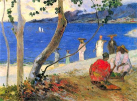 Image Photo Beach Scene Gauguin | Photos and Images | Vintage