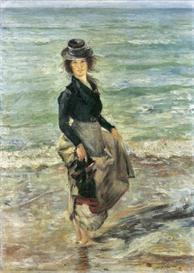 Image Photo Beach scene Lovis Corinth Impressionism European | Photos and Images | Vintage