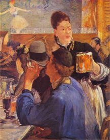 Image Photo Beer Waitress Manet | Photos and Images | Vintage