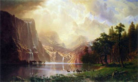Image Photo Between the Sierra Nevada Mountains Bierstadt | Photos and Images | Vintage