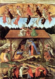Image Photo Birth of Christ (Mystic birth) Botticelli | Photos and Images | Vintage