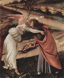 Image Photo Birth of Christ (Mystic birth) Detail 2 Botticelli | Photos and Images | Vintage