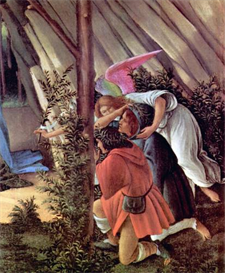 Image Photo Birth of Christ (Mystic birth) Detail Botticelli | Photos and Images | Vintage