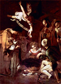 Image Photo Birth of Christ with St. Lawrence and St. Francis Caravaggio | Photos and Images | Vintage