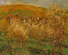 Image Photo Blooming apple trees Monet | Photos and Images | Vintage