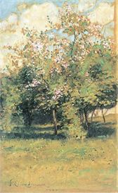 Image Photo Blooming Trees Hassam Impressionism American | Photos and Images | Vintage