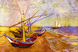 Image Photo Boats of Saintes-Maries  Van Gogh | Photos and Images | Vintage
