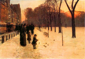 Image Photo Boston in everyday twilight Hassam Impressionism American | Photos and Images | Vintage