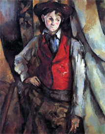 Image Photo Boy in Red Waistcoat Cezanne | Photos and Images | Vintage