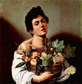 Image Photo Boy with fruit basket Caravaggio | Photos and Images | Vintage