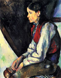 Image Photo Boy with Red Vest Cezanne | Photos and Images | Vintage