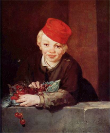 Image Photo Boy with the cherries Manet | Photos and Images | Vintage