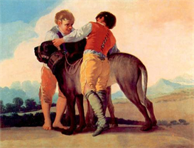 Image Photo Boys with blood dogs Goya   Photos and Images   Vintage