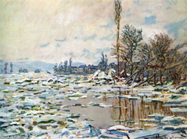 Image Photo Break Up of Ice Monet | Photos and Images | Vintage