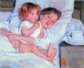 Image Photo Breakfast in bed Cassatt | Photos and Images | Vintage
