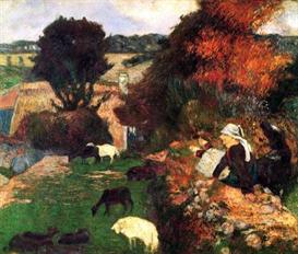Image Photo Breton Shepherds Gauguin | Photos and Images | Vintage
