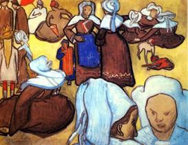 Image Photo Breton Women after Emile Bernard Van Gogh   Photos and Images   Vintage