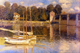Image Photo Bridge at Argenteuil Monet Impressionism | Photos and Images | Vintage