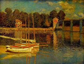 Image Photo Bridge at Argenteuil Monet | Photos and Images | Vintage
