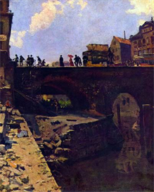 Image Photo Bridge in a French city Lepine Impressionism | Photos and Images | Vintage