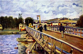 Image Photo Bridge in Argenteuil Sisley | Photos and Images | Vintage