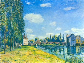 Image Photo Bridge in Moret in Summer Sisley | Photos and Images | Vintage