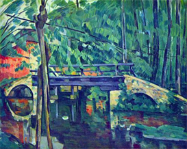 Image Photo Bridge in the forest Cezanne   Photos and Images   Vintage