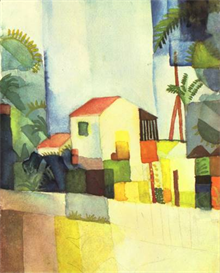 Image Photo Bright house August Macke Expressionism | Photos and Images | Vintage