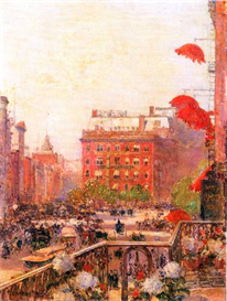 Image Photo Broadway and Fifth Avenue Hassam Impressionism American | Photos and Images | Vintage