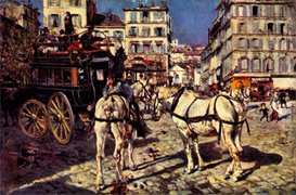 Image Photo Buses on the Pigalle place in Paris Giovanni Boldini Impressionism European | Photos and Images | Vintage