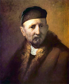 Image Photo Bust of an old man with a cap Rembrandt | Photos and Images | Vintage