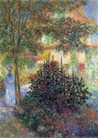 Image Photo Camille in the garden of the house in Argenteuil Monet | Photos and Images | Vintage