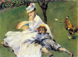 Image Photo Camille Monet and her son Jean in the garden of Argenteuil Renoir | Photos and Images | Vintage